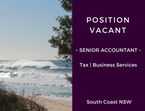 Position Vacant – Senior Accountant Tax/Business Services