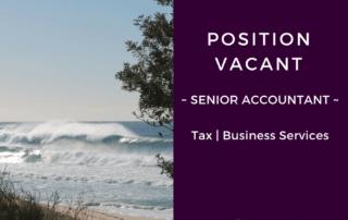 position vacant senior accountant