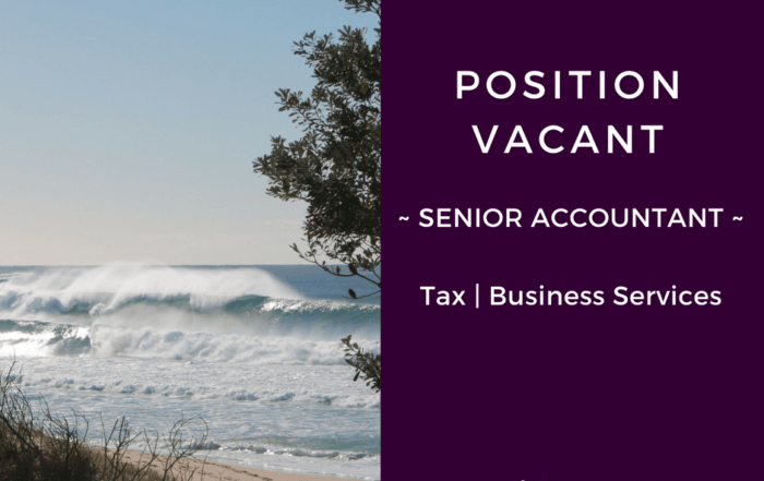 position vacant senior accountant