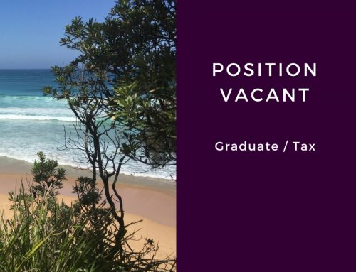 Position vacant – Graduate or nearing completion / taxation