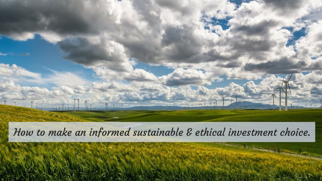 sustainability investing