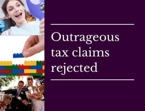 """Outrageous"" tax deductions rejected"