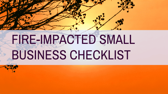 fire impacted small business checklist