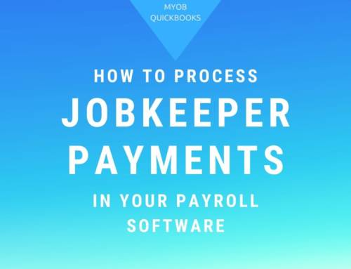 How to process JobKeeper payments in your Payroll Software