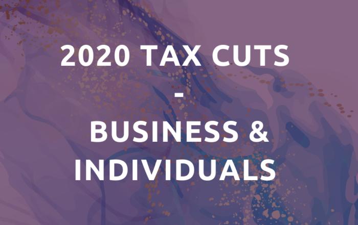 tax cuts 2020