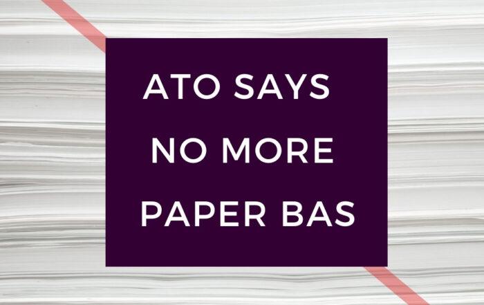 No more paper BAS image