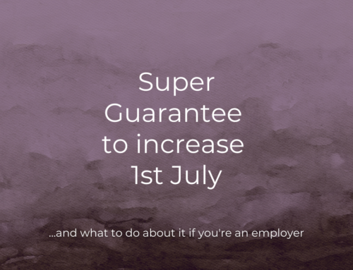 Super Guarantee to increase 1st July